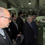 وزیر صنعت، معدن و تجارت ازکارخانه نساجی فردوس بازدید کرد.
