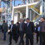 بازدید معاون طرح و برنامه وزارت صنعت،معدن وتجارت از کارخانه سیمان باقران