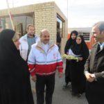 سفر رئیس سازمان داوطلبان جمعیت هلال احمر به روستای خور خوسف