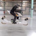 عبور از ترافیک با رونمایی از اولین موتورسیکلت جهان که پرواز میکند!