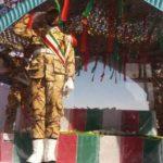 استقبال از پیکر ۶شهید گمنام دفاع مقدس در فرودگاه بیرجند؛