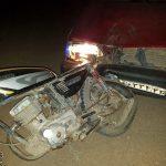 جان باختن راکب موتورسیکلت در زیرکوه