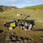 ماجراجویی زوج سوئیسی ـ آلمانی با گرانترین خودروی برقی جهان در ایران + تصاویر؛