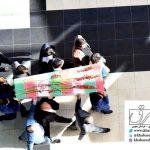 گزارش تصویری /کارکنان استانداری خراسان جنوبی از پیکر شهدای گمنام هشت سال دفاع مقدس استقبال کردند .