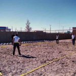 برگزاری مسابقات والیبال ساحلی استان در خوسف؛