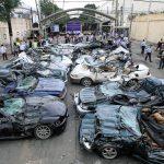 نابودی خودروهای لوکس توسط دولت فیلیپین!+ عکس؛