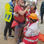 وقوع حادثه در عمق ۱۰ متری چاه در سرایان/ کارگر مصدوم نجات یافت